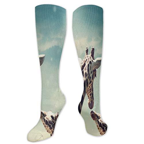 Calcetines altos de compresin estticos de plumas y cola de pavo real en diseo tradicional, calcetines para mujeres y hombres, ideales para correr, atletismo, senderismo, viajes, vuelo.