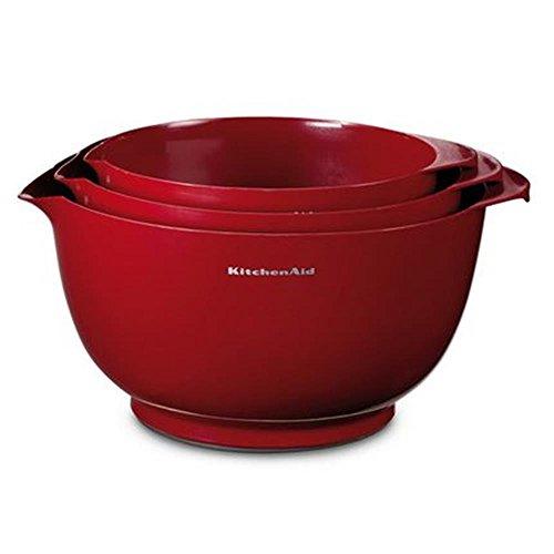 Kitchenaid KG175ER Ciotole in plastica, 25 x 25 x 14,5 cm, Colore: Rosso Impero