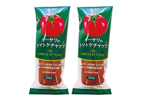 自然で濃厚な旨味 無添加 トマトケチャップ 300g×2個 ★ コンパクト ★ 砂糖不使用 ・有機認定原料使用 ・濃厚な有機トマトの旨み