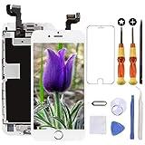 Brinonac Pantalla táctil LCD Repuesto para iPhone 6S, cámara Frontal preinstalada, Altavoz y Sensor de proximidad con Herramientas (Color Blanco)