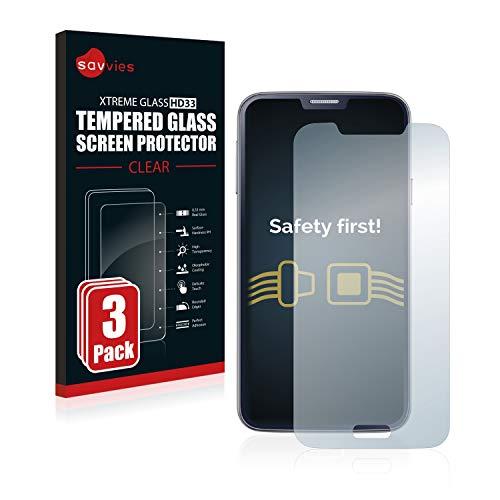 Savvies Panzerglas kompatibel mit Samsung Galaxy S5 / S5 Neo (3 Stück) - Echt-Glas, 9H Härte, Anti-Fingerprint