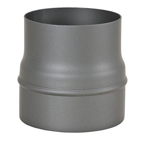 verni noir Tuyau de po/êle// Conduit de fum/ée// Elargissement Dn /ø 110-150mm
