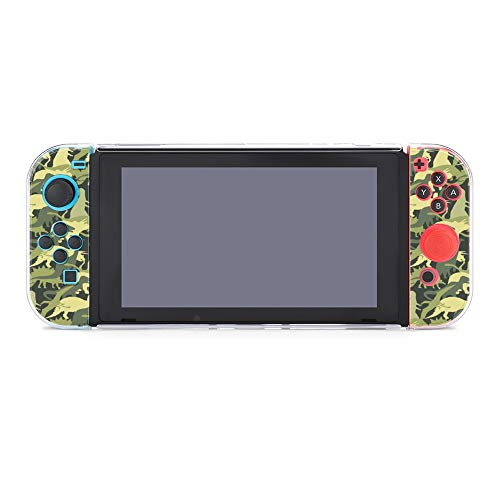 Protective Case Cover for Nintendo Switch Camouflage Army Pattern Dinosaur Dockable Case Compatible with Nintendo Switch Console and Joy-Con Controller