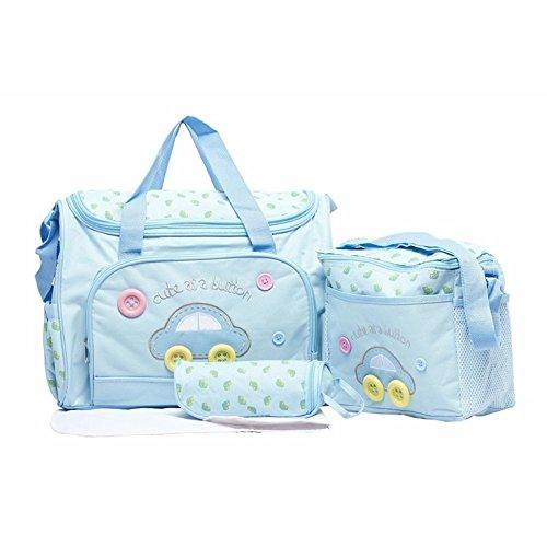 Baby Bucket Baby Diaper Nappy Changing Baby Diaper Bag/Baby Bag/Mummy Bag/Handbag (4pcs Set Light Blue)