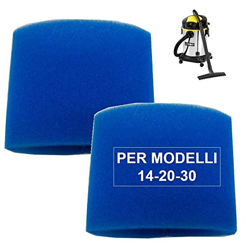 Kit filtre aspirateur Lavor 2 pièces filtres éponge liquide pour bidon aspirateur modèle GT, 14, 20, 30 - aspiration eau liquides nettoyage