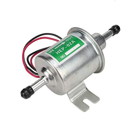 Bomba de combustible eléctrica, Universal 24V Coche Barco Bomba de combustible eléctrica Filtro en línea Gasolina Diesel Reemplazo(plata)