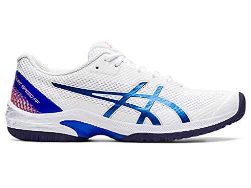 ASICS Women's Court Speed FF Tennis Shoes, 8, White/Lapis Lazuli Blue