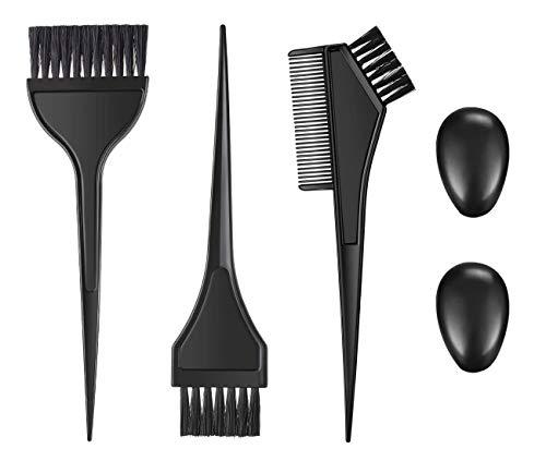 Juego de cepillos de color para tinte para el cabello, peines para tinte para el cabello con orejeras kit de herramientas para color del cabello cepillos para colorear herramientas aplicadoras tinte