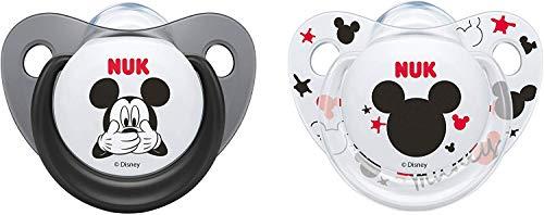 Nuk Mickey & Minnie - Chupetes fisiológicos silicona