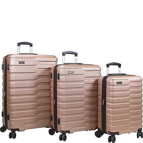 Dejuno Cortex Lightweight 3-Piece Hardside Spinner Luggage Set, Rose Gold, One Size
