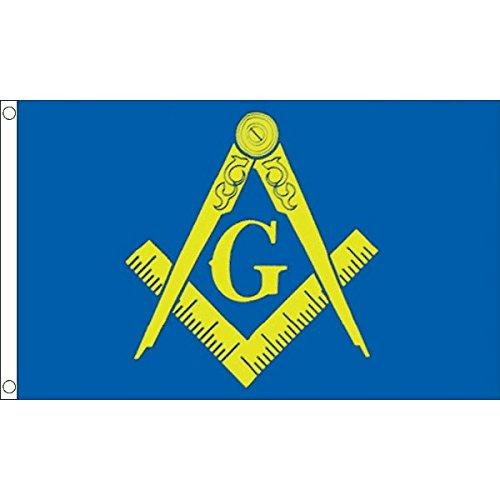 AZ FLAG Flagge FREIMAUREREI Blaue UND GELBE 90x60cm - FREIMAUREREI Fahne 60 x 90 cm - flaggen Top Qualität
