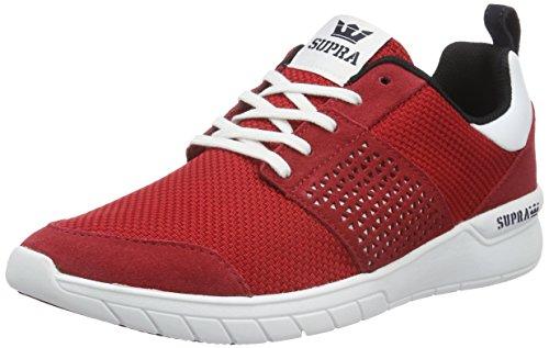 Supra Herren Scissor Sneakers, Rot (RED/Black - White 604), 42.5 EU