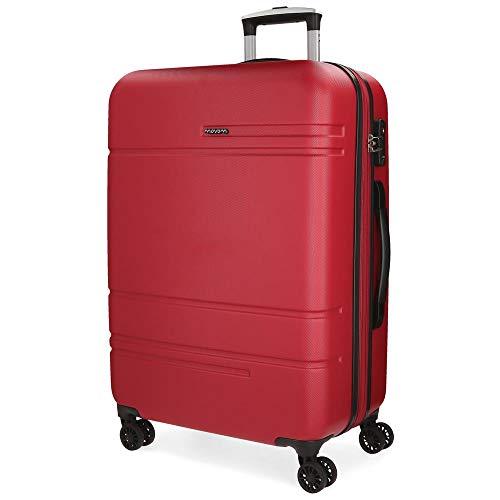 Movom Galaxy Maleta mediana Rojo 49x69x27 cms Rígida ABS Cierre TSA 72L 3,8Kgs 4 Ruedas Dobles Extensible