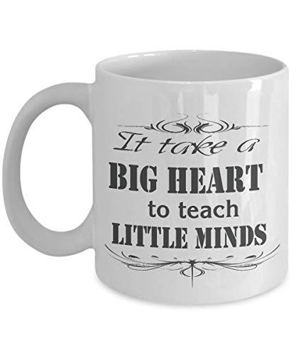 N\A Regalo para el Maestro: se Necesita un Gran corazón para enseñar a Las Mentes pequeñas, Taza para el Maestro, Taza para el Maestro, Regalo para el Maestro, Maestro, Taza de CAF