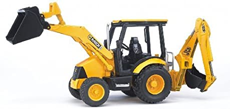 Bruder Toys – Construction Realistic JCB MIDI CX Backhoe Loader with Changeable..