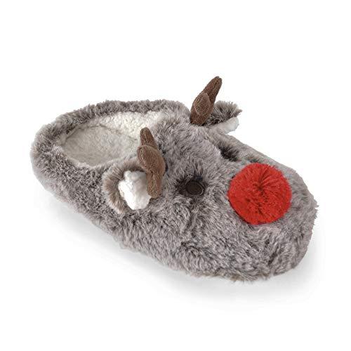 Socks Uwear Damen Plüsch Rentier Mule Pantoffel Eu. 36/37