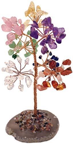 Mina Heal Crystal Gem Money Tree for Chakra Healing Feng Shui Fortune Good Luck Wealth & Prosperity
