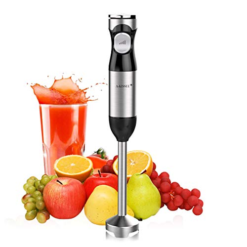 Hand Blender Mixer,Mini Electric Stick with Multi-Speed Control & Safety Child Lock For Baby Food,Fruits,Sauces and Soup