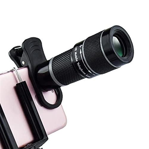 JUNMIN Lente para teléfono móvil 18 Veces Fotografía de cámara de Alta definición Externa Foco Ajustable Teleobjetivo Inteligente Teleobjetivo Lente