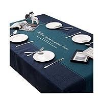 テーブルクロス 表椅子カバー、C03230ダイニング長方形防水肥厚テーブルクロステーブルマット生地コットンリネンコーヒーテーブルパッド (Size : 140*100cm)