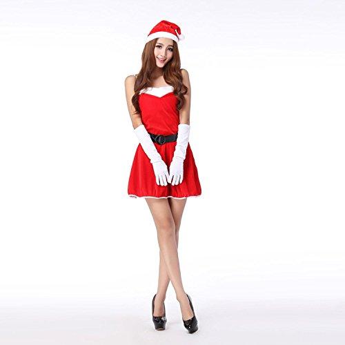 Costumi di Natale delle donne Sleeveless Dresses del pannello esterno del vestito dell'abito di sfera Masquerade Costumi Costumi di Natale Vestito One Size