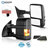ECCPP Towing Mirrors Replacement fit for 2008-2016 for Ford F250 F350 F450 F550 Super Duty Side View Mirror Pair Set Power Heated w/LED Smoke Turn Signal Pickup Mirrors