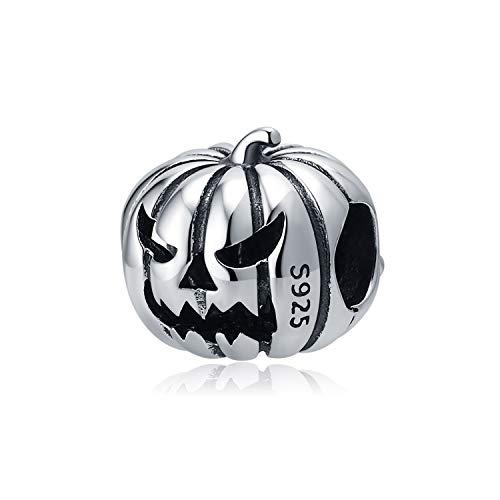 Soukiss - Abalorio de plata de ley 925, diseño de calabaza, para pulseras de Pandora
