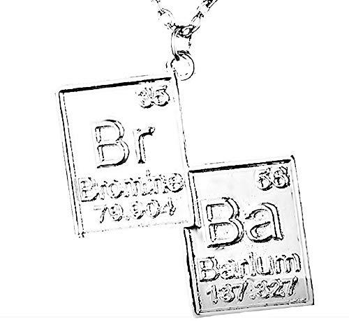 KIRALOVE Halskette - Film - fernsehserie - Breaking Bad - Symbole - br - ba - Chemiker - Cosplay - modeschmuck - männer - Jungen Breaking Bad