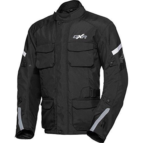 DXR Motorradjacke mit Protektoren Motorrad Jacke Wintertour Textiljacke 1.0 schwarz XL, Herren, Tourer, Polyester