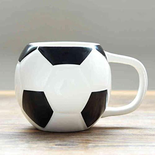 HENGCHENG Espressotasse Geschenk 450 Ml Kapazität Kreative Drinkware 3D Fußball Form Fußball Keramik Kaffeeliebe Sport Fußball Keramik Tasse