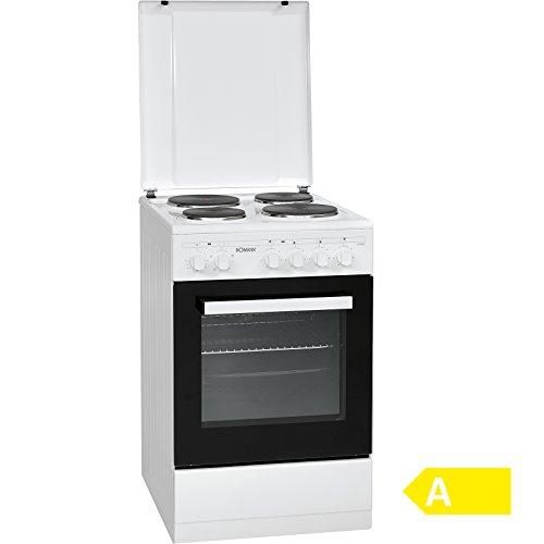 Bomann EH 3555 G freistehender Elektroherd 50 cm, EEK A, 4 Kochstellen mit 7-Takt Schaltern, 48 L