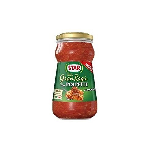 Star Il Mio Gran Ragù Italian Tomato Pasta Sauce with Pork Meatballs 360g Ready to Eat!