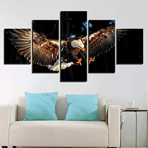 TBDZPS 5 Paneles Modern Otthoni Fali Dekoráció Moduláris Képek Állati SAS...