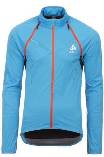 Odlo Herren Radsport Funktionsjacke Logic Zip Off, dresden blue - black, S, 410802