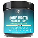 Bean Envy Bone Broth Protein Powder + MCT Oil + Acacia Fiber for Joint Protection, Better Digestion, Energy Boost, Weight Loss, and Sleep - Vanilla