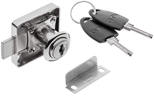 GTV - Cerradura de leva con llaves digitales, taquilla de alta seguridad para armario, cajón, buzón de correo, tablero de tazas, muy duradero