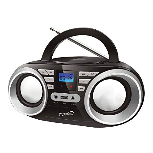 "Supersonic SC-506 Bluetooth Boombox 2"" Display"