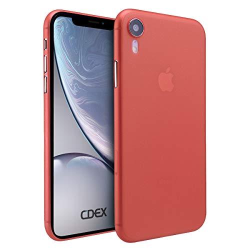 doupi UltraSlim Funda para iPhone XR (iPhone 10r) 6,1 Pulgada, Finamente Estera Ligero Estuche Protección, Rojo