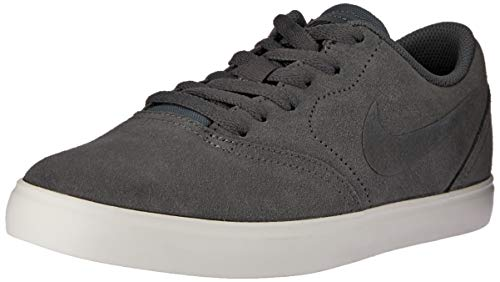 Nike SB Check Suede (GS), Scarpe da Skateboard, Multicolore (Dark Grey/Dark Grey-Black-Summit White 002), 38 EU