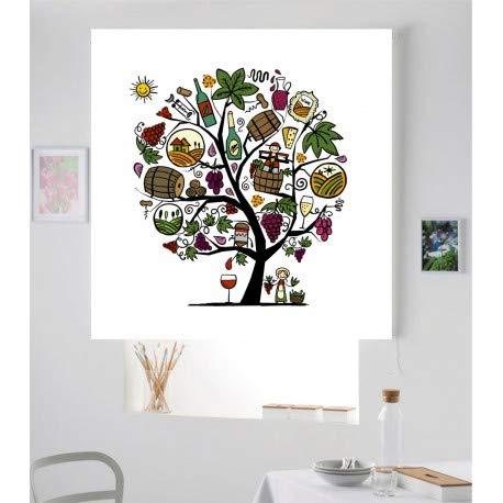 Unbekannt Estor Estor IROA Digital-003 Digital-Baum Koch Rolläden Lucent farbenreiche! (100x180)