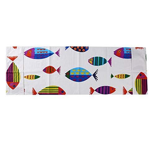 KONNEN Four à Micro-Couverture Four poussière Couverture Tissu maniques Couverture Sac de Rangement Accessoires de Cuisine Fournitures Décoration,Cartoon Fish