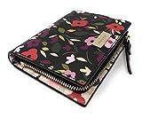 Kate Spade New York Billetera pequeña plegable negra multi floral