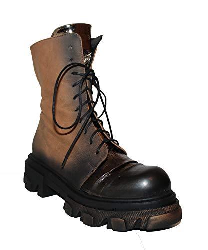 Papucei Stiefel Boots Gr. 39 Leder Nuria Brown - Black Plateau Damen