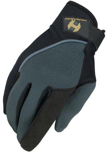 Heritage Competition Gloves, Size 7, Dark Grey/Black