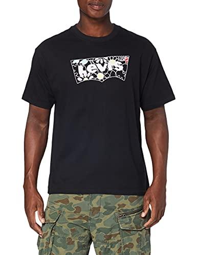 Levi's Vintage Fit Graphic tee Camiseta, Flower Batwing Caviar, XL para Hombre