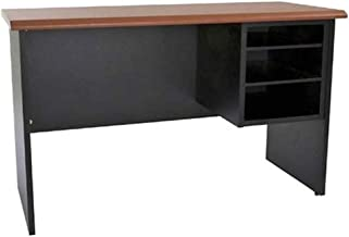 Mahmayi Silini 106 Side Extension Unit Desk - Cherry/Black - Traditional and Efficient Large Office Desk with Paper Rack a...