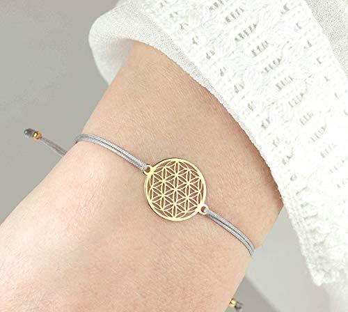 ARMBAND Blume des Lebens 925 Silber vergoldet als Geschenk