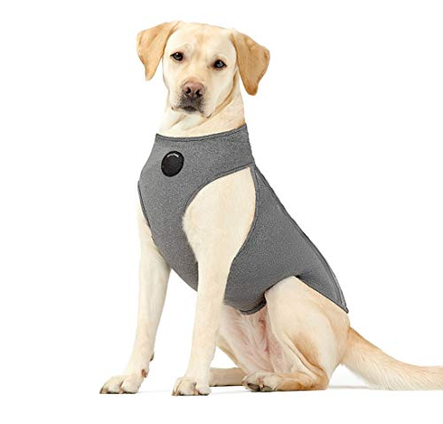 Neoally Dog Anxiety Jacket Calming Vest with Most Torso Coverage Including Chest for Best Calming Effect, 3-Level Adjustable Compression to Reduce Stress in Dogs and Cats (Large)
