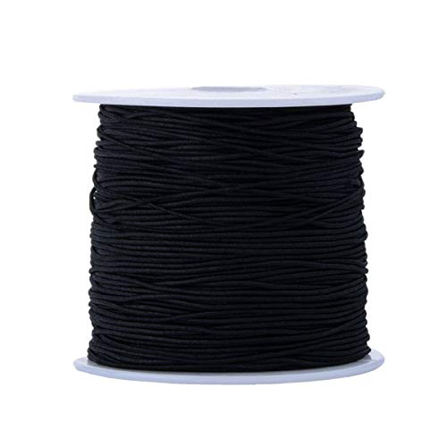 100 metros 0.8mm negro elástico elástico rebordear hilo joyería pulsera artesanía fabricación cordón alambre