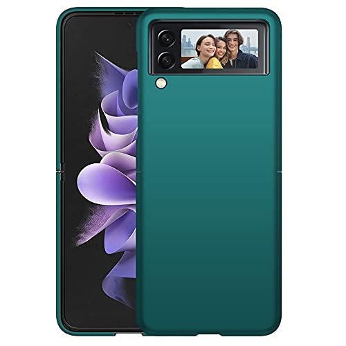 Richgle Compatibile con Cover Samsung Galaxy Z Flip 3 5G, Ultra Sottile Protettiva Custodia Cover Case Compatibile con Samsung Galaxy Z Flip3 5G - Verde RG01526
